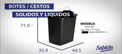 Dalce del Centro, Botes de Basura para líquidos y sólidos
