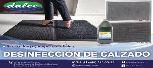 Desinfección de calzado